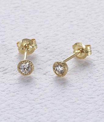 全新真品日本專櫃agete 18K鑽石耳環 單支