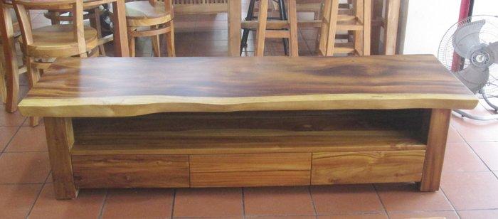 【肯萊柚木傢俱館】訂製款 印尼100雨豆木桌面、下抽柚木製作 電視櫃 收納櫃 限量商品