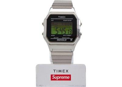 「Rush Kingdom」代購 Supreme Timex Digital Watch Silver 手錶