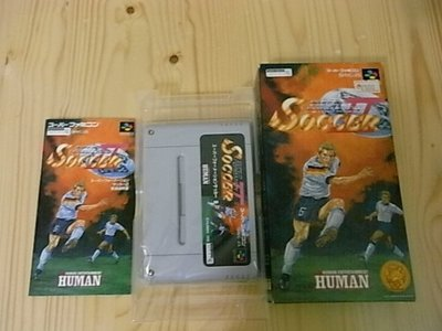 【小蕙生活館】SFC日版卡帶 ~ Super Formation Soccer II 超級結構足球 2 (盒裝)