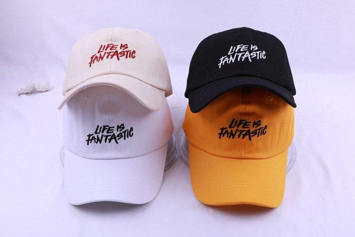 《SWAG史瓦客》帽子 老帽 LIFE IS FANTASTIC 中性款 彎帽 饒舌 hiphop 現貨+預購