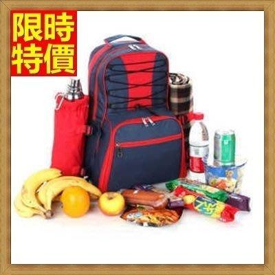 野餐包 2人餐具組 雙肩後背包-外出雙肩食品容納大空間設計感野餐包 68ag23[獨家進口][米蘭精品]