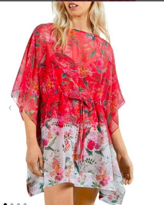 Ted Baker Floral Tie Waist Cover Up