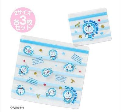 天使熊雜貨小舖~Sanrio 三麗鷗 Doraemon 哆啦A夢 六入夾鍊袋 收納袋  全新現貨