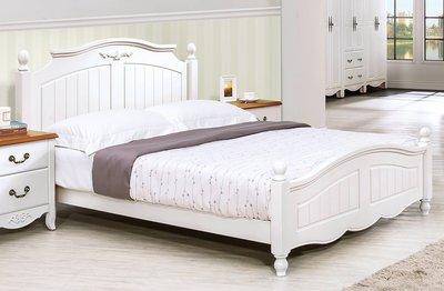 【生活家傢俱】SY-133-1※瑪莎白色5尺床台【台中11500送到家】床架 實木 雙人 歐式 鄉村風 白色烤漆 復古