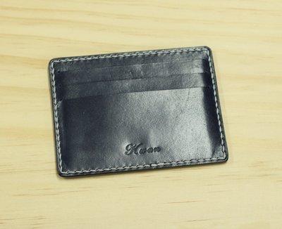 銀革手作 意大利 植鞣革 頭層牛皮 6卡位 卡套 八達通套 皮革課程 皮革教學