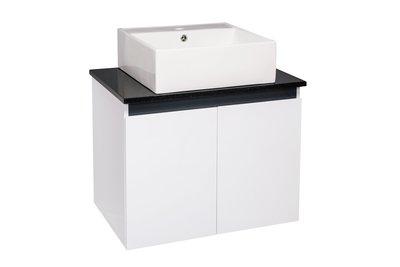 《檯上盆系列》 檯上盆 花崗石檯面 方盆 浴櫃 PVC發泡板 含龍頭 落地櫃【寬70*深48*高85cm 】