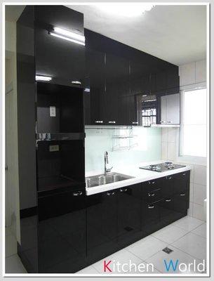 ❤ 廚房世界 實體店面 ❤ 高雄 廚房歐化系統廚具 256公分一字型流理台附中島櫃