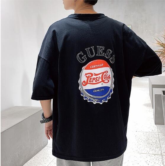 韓系男士短袖T恤寬松圓領情侶半袖上衣 C113