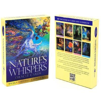 【現貨】 50張 Nature's Whispers Oracle Cards大自然的耳語神諭卡 塔羅牌 卡牌  星期八雜貨鋪GJTYU