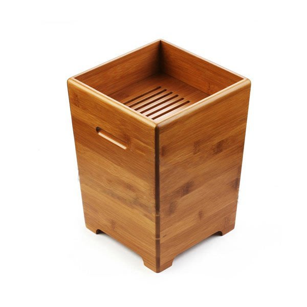 5Cgo【茗道】含稅會員有優惠  14172596020 竹制茶水桶茶渣桶蓄水桶茶桶垃圾桶排水茶道茶具精工茶道木桶儲物桶