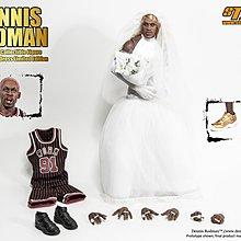 ++全新 Storm Toys 1/6 Wedding Dress 婚紗版含球衣特別版 NBA 芝加哥公牛 Dennis Rodman 洛文