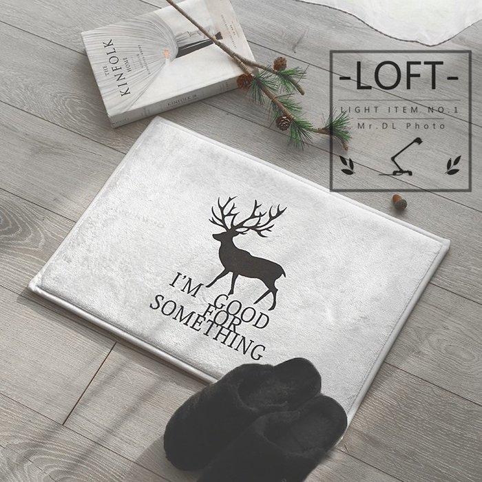 代理設計款【Mr.DL】 LOFT / 工業風地墊 防滑設計 地毯 墊子 門口墊 簡約北歐 臥室客廳浴室 小鹿大理石葉子