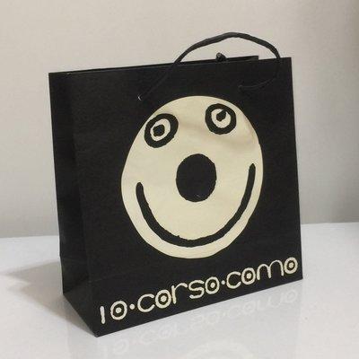 10 Corso Como 可愛 塗鴨 笑臉 黑白紙袋
