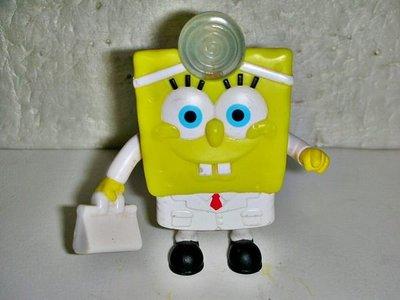 L.(企業寶寶玩偶娃娃)少見2012年麥當勞發行海綿寶寶醫生造型公仔壓下去聽診器還會發亮!