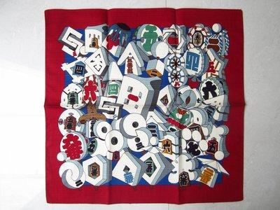 日本【SANBI】さんび 日本風情繪圖案 純棉 手帕 HANDKERCHIEF 荒川株式會社 保證全新正品/真品 現貨