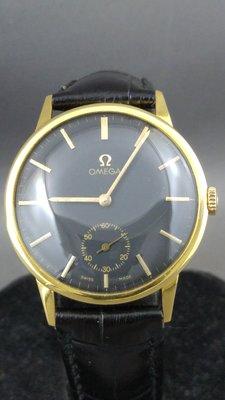 正18k 金 1960年 OMEGA 亞米茄 手錶 古董錶 機械 Cal 269  古董錶 手錶