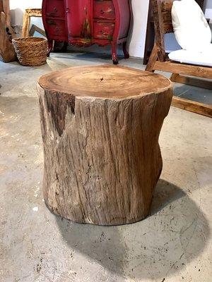 老柚木矮椅- Stump Stool