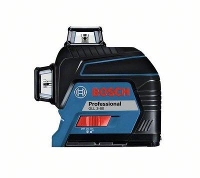 ☆捷成儀器☆最新BOSCH GLL3-80雷射墨線儀 磨基激光雷射水平儀 整體組含掛架接收器gll3-80p激光水平儀