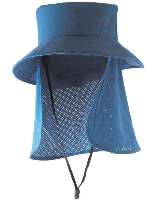 荒野 WILDLAND 男女 抗UV可脫式遮陽帽  防曬工作帽/登山健行休閒帽/遮臉大圓盤帽 w1029