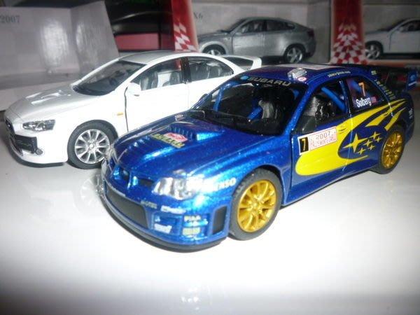 {車界模王} SUBARU 速霸陸 硬皮鯊 WRC WRX STI 重度改裝比賽限定版---空運抵台!!!