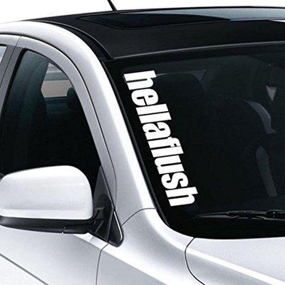 ** 福品小舖 ** GOLF POLO dapper  hellaflus 海拉風 汽車 貼紙 改裝 擋風玻璃 貼紙