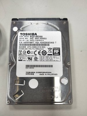 【光華維修中心】Toshiba 2.5吋 500G硬碟 (二手良品 保固七天) 現貨一個
