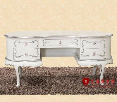 [紅蘋果傢俱] CT 新古典系列 新古典 書桌 辦公桌 寫字桌 桌子 金箔銀箔 造型 鋼琴烤漆