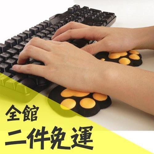 空運 日本  動物(貓咪) 貓肉球滑鼠墊 鍵盤墊 雙件組 貓咪雜貨 生日 新年 交換禮物 【水貨碼頭】