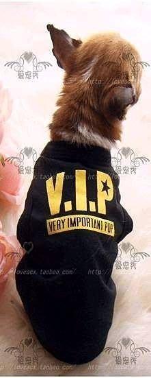 【皮蛋媽的私房貨】純棉T恤黑色VIP背心 貓咪 狗狗衣服 透氣舒適 休閒-寵物衣服