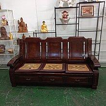 二手家具全省估價(大台北冠均 新五店)二手貨中心--復古收納型木沙發組 1+2+3沙發 (沒有茶几)SO-9112216