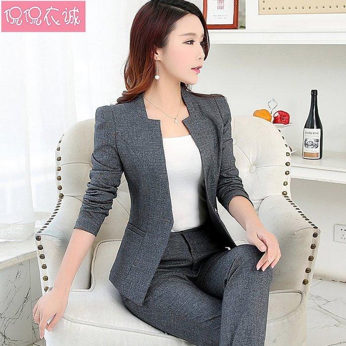 999西服 女士西裝 2018秋裝新款西裝女兩件套韓版小香風西服套裝工作服職業正裝外套