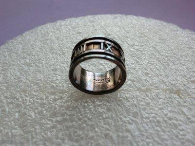 外國知名品牌:TIFFANY&.Co.925銀戒:羅馬數字