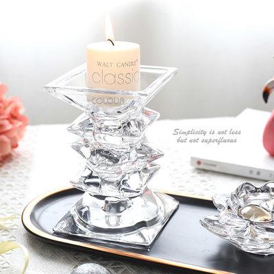 北歐創意浮雕玻璃燭台 浪漫燭光晚餐 喜宴婚慶 餐桌裝飾品 求婚告白 桌面收納擺件 ※COLOUR杯盤囊集選物※