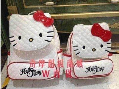 果凍[hello kitty包包凱蒂貓頭可愛書包格紋旅行包雙肩包女潮背包89