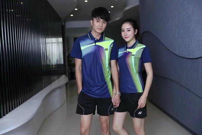 Yonex羽球衣勝利羽球衣YY羽球衣 新款YY尤尼克斯羽毛球服套裝男女短袖翻領速幹運動訓練球衣比賽服