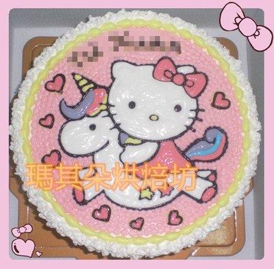 台中大里 瑪其朵烘焙坊 造型蛋糕 客製化蛋糕 8吋 客製畫圖款 KITTY 門市編號265