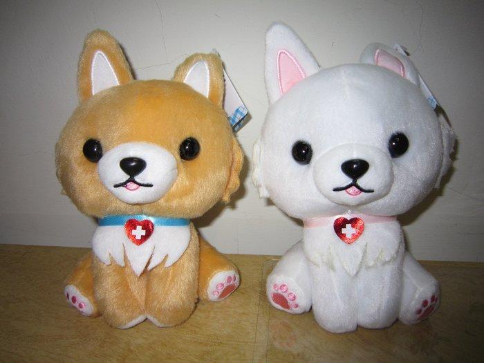 ///可愛娃娃///~6吋超可愛的坐姿療癒狐狸犬~狐狸狗絨毛娃娃2款---約20公分