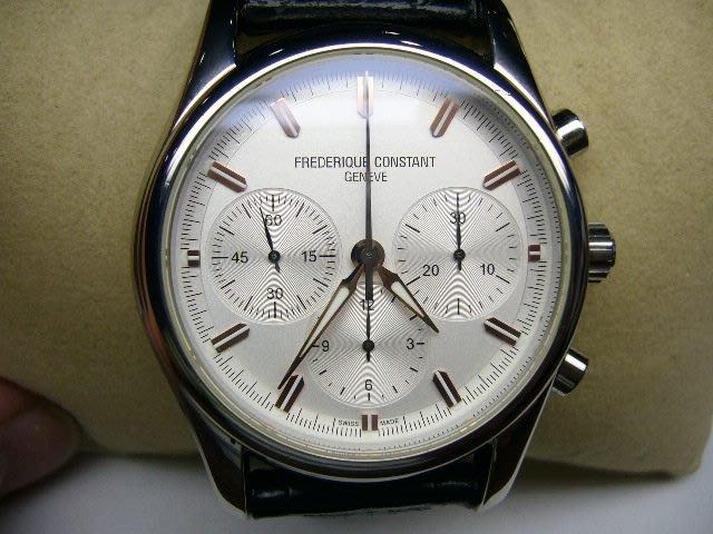 [吉宏精品交流中心]FREDERIQUE CONSTANT 康斯登 皮帶 計時碼錶(限量版)