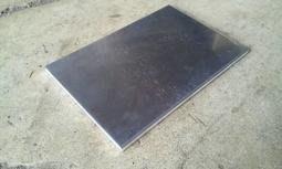 304不鏽鋼板 不鏽鋼板 白鐵板 2B霧面 0.5mm 25公分平方 學生用 原料現切