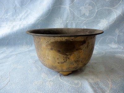 黑色小館A14~~~~~正老件~~~銅製三腳小盆子