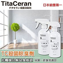 日本TC殺菌除臭劑 -光觸媒消除臭味/抗菌_寵物犬貓狗尿布墊貓砂狗窩適用_非芳香劑活性碳可比