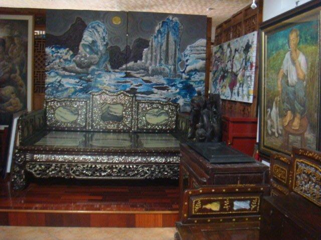 兩岸畫家作品及各類古董文物酸枝木床桌椅銅木雕收藏割讓典藏(免費參觀)歡迎藝文之旅