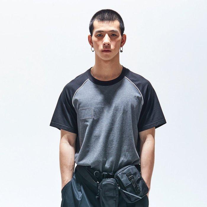 【OTOKO Men's Boutique】固制:長絨棉插肩短袖/灰色(台灣獨家代理)