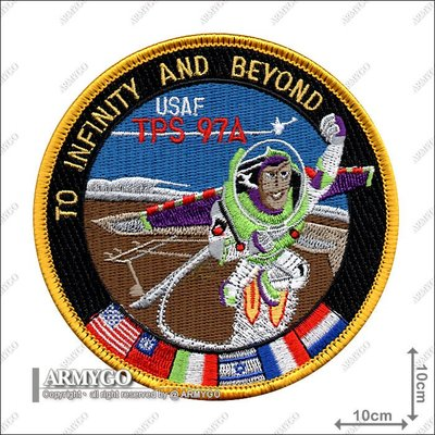 【ARMYGO】空軍赴美受訓紀念繡章 (USAF Test Pilot School Class 1997A Moral