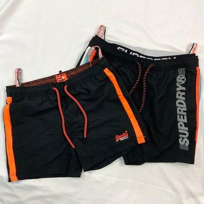 衝評 現貨 8348 FM2 黑色 鬆緊 抽繩 泳褲 極度乾燥 透氣 游泳褲 superdry 短褲