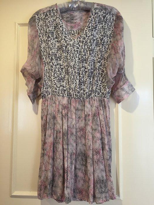超唯美100%純絲 粉藕洋裝