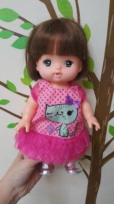 《云媽娃衣舖》淘氣寶貝 小美樂娃娃適用衣服 小貓蕾絲裙《現貨》