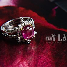 【YLMAA274】3.51ct莫桑比克造型紅寶戒指/30P配鑽0.53ct /18K