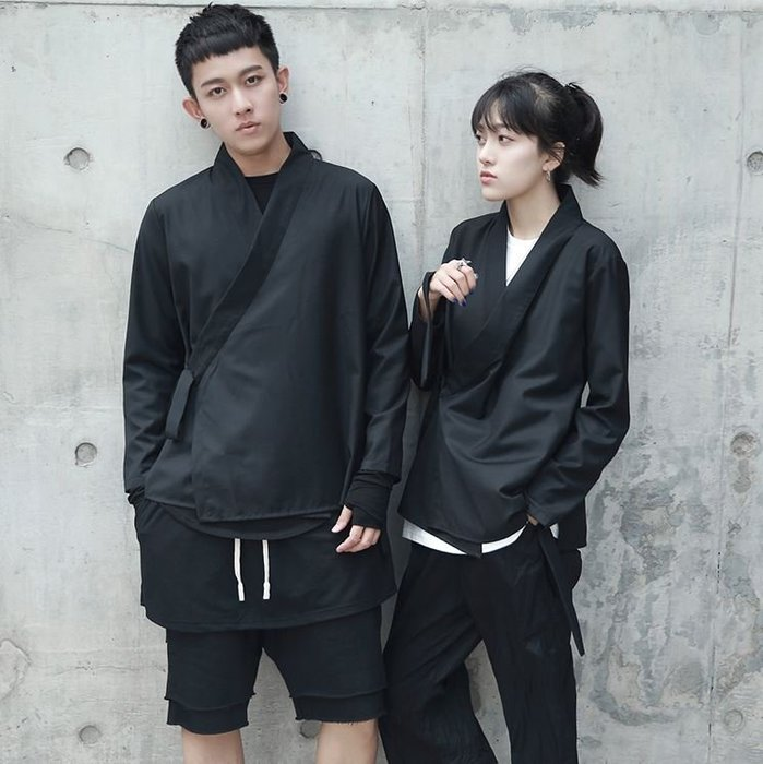 【NoComment】日系時尚 質感簡約 純素側開式道袍 ZARA Eugenetong